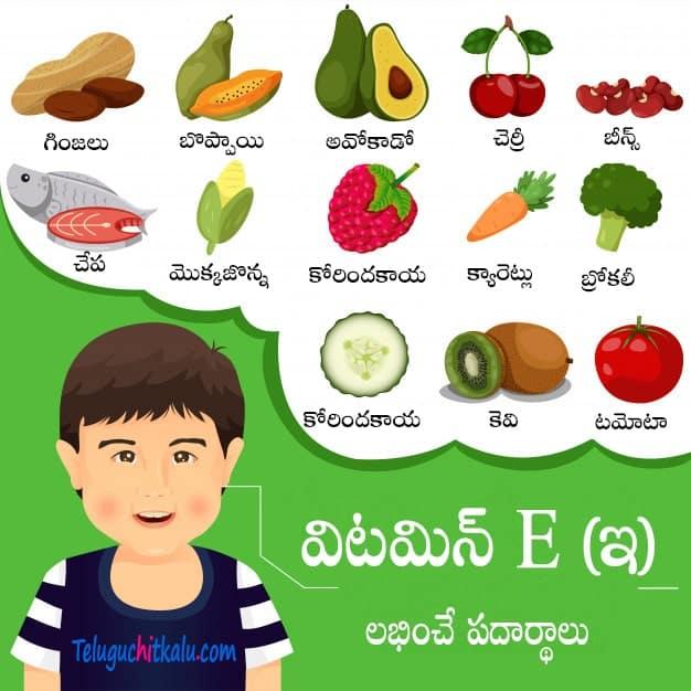 vitamin E TELUGU