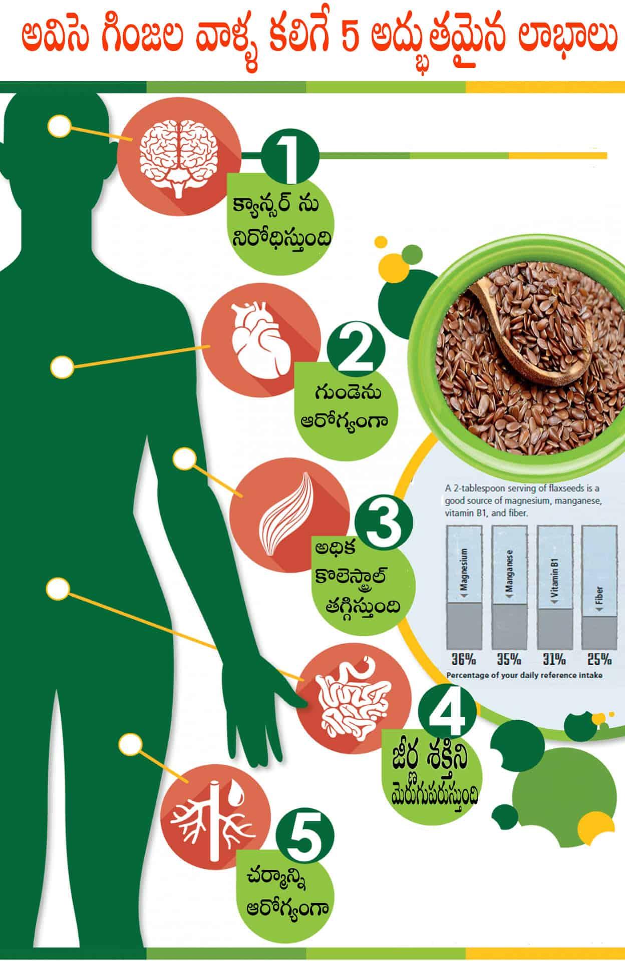 flax seeds benefits in telugu