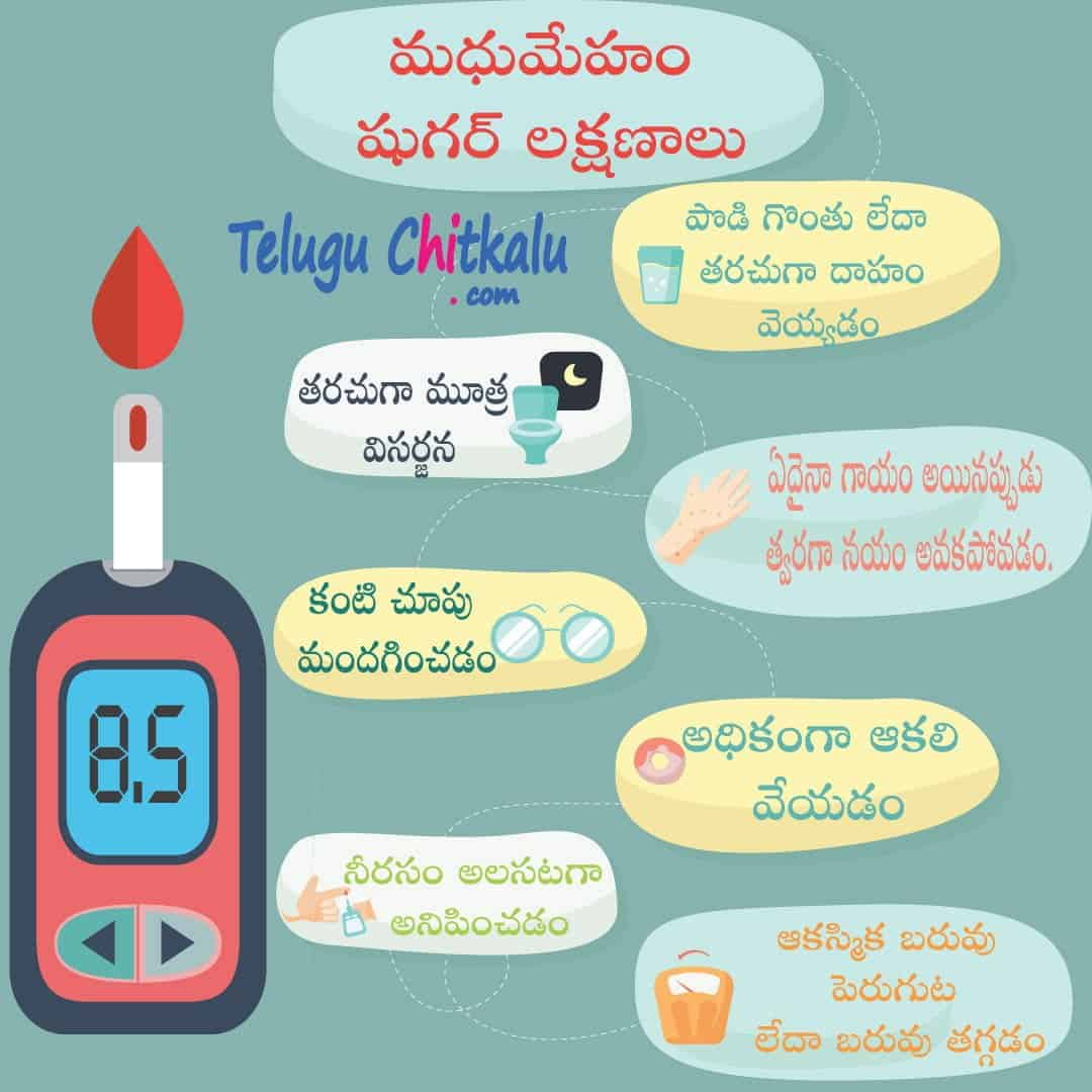 diabetes symptoms in telugu