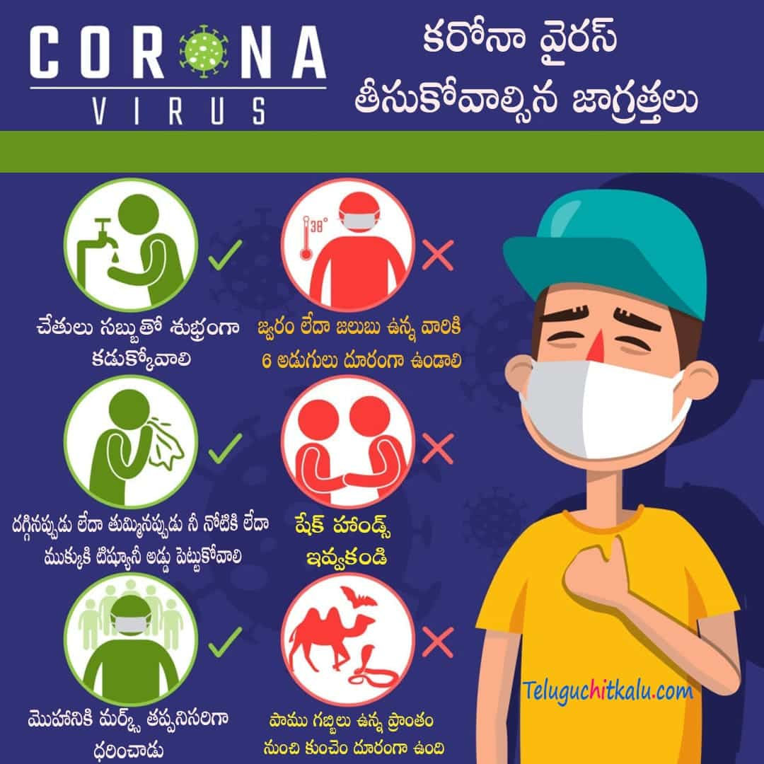 Coronavirus precautions in telugu